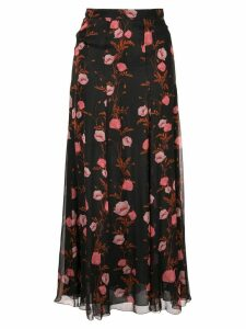 Giambattista Valli floral print skirt - Black