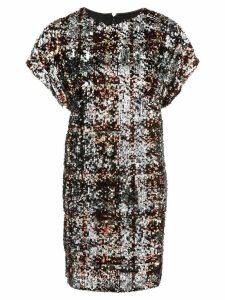 Aidan Mattox sequin shift dress - Brown