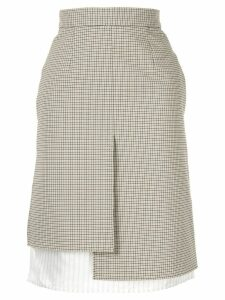 Nina Ricci plaid asymmetric skirt - Neutrals