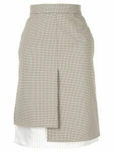 Nina Ricci plaid asymmetric skirt - Neutrals