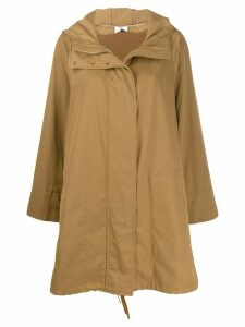 Agnona hooded parka coat - Neutrals
