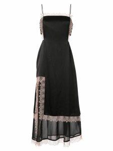 3.1 Phillip Lim Lace Trimmed Dress - Black