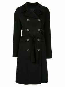 Giambattista Valli classic double-breasted coat - Black