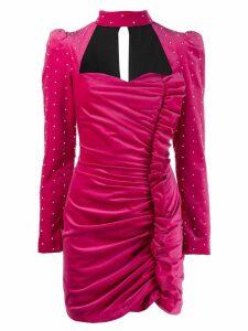 Giuseppe Di Morabito embellished ruffle front mini dress - Pink