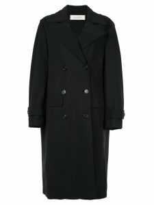 Nina Ricci classic double-breasted coat - Black