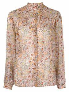 Giambattista Valli floral print blouse - Neutrals