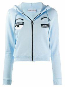 Chiara Ferragni zip-up sweatshirt - Blue