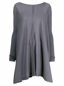 Rick Owens draped sweatshirt - Blue