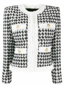 Balmain cropped tailored jacket - White