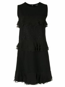 Giambattista Valli ruffle trimmed dress - Black