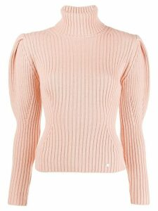 Elisabetta Franchi roll neck knitted top - Pink