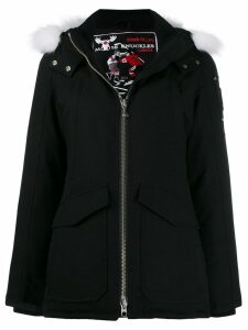 Moose Knuckles fox fur hooded coat - Black