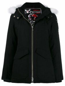 Moose Knuckles fox fur hooded coat - Black