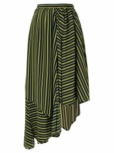 Nina Ricci asymmetric striped skirt - Blue