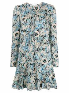 Veronica Beard floral flared dress - Blue