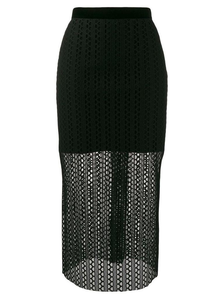 Philosophy Di Lorenzo Serafini knitted midi skirt - Black