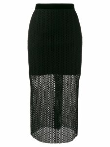 Philosophy Di Lorenzo Serafini knitted midi skirt - Black