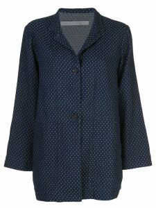 Raquel Allegra oversized buttoned blazer - Blue