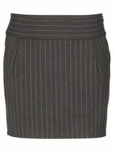 Alexandre Vauthier pinstripe mini-skirt - Grey