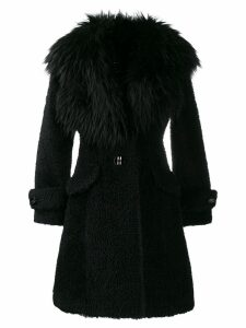 Elisabetta Franchi faux fur coat - Black