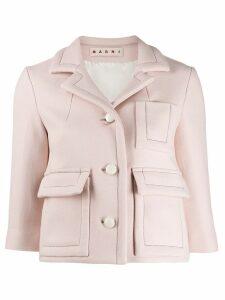 Marni cropped classic blazer - Pink