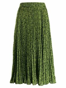 Michael Michael Kors graphic logo print georgette pleated skirt -