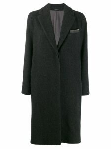 Brunello Cucinelli straight fit coat - Grey