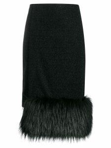 Marco De Vincenzo straight-fit midi skirt - Black