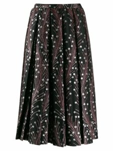 Marco De Vincenzo embroidered flared skirt - Black