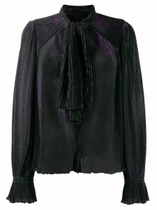 Marco De Vincenzo pleated neck-tied blouse - Green