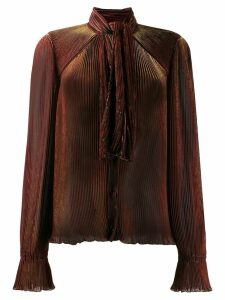 Marco De Vincenzo pleated long-sleeve blouse - Red
