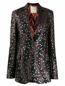 Marco De Vincenzo embroidered fitted blazer - Black