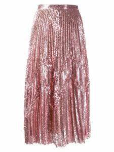 Marco De Vincenzo sequins midi skirt - Pink