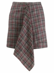 Isabel Marant checked mini skirt - Blue