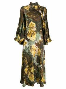 Erika Cavallini floral print flared dress - Green