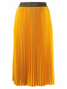 Luisa Cerano pleated midi skirt - Yellow