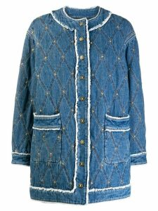 Just Cavalli diamond stitch denim jacket - Blue