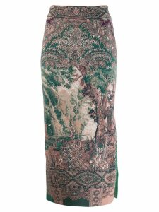 Etro printed pencil midi skirt - Neutrals