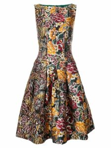 Oscar de la Renta floral jacquard dress - Multicolour