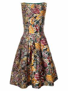 Oscar de la Renta floral jacquard dress - Multicolour