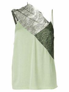 Christopher Esber drape neck lace cami - Green