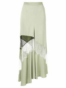 Christopher Esber contrast lace flare skirt - Green