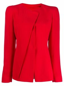 Giorgio Armani classic fitted jacket - Red