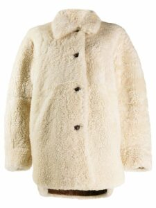 Isabel Marant Sarvey shearling coat - White