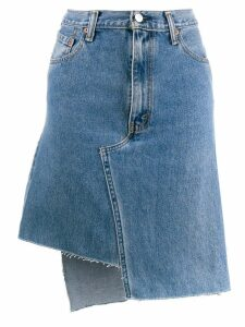 Ji Oh asymmetric denim skirt - Blue