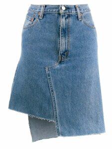 Ji Oh asymmetric denim skirt - Blue