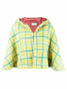 Gucci hooded knit poncho - Green