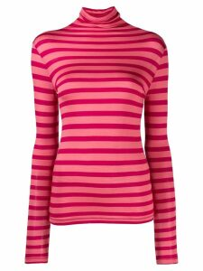 Semicouture stripe roll-neck top - Pink
