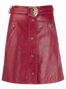 Just Cavalli leather mini skirt - Red