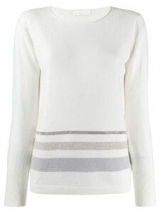 Fabiana Filippi striped sweatshirt - White